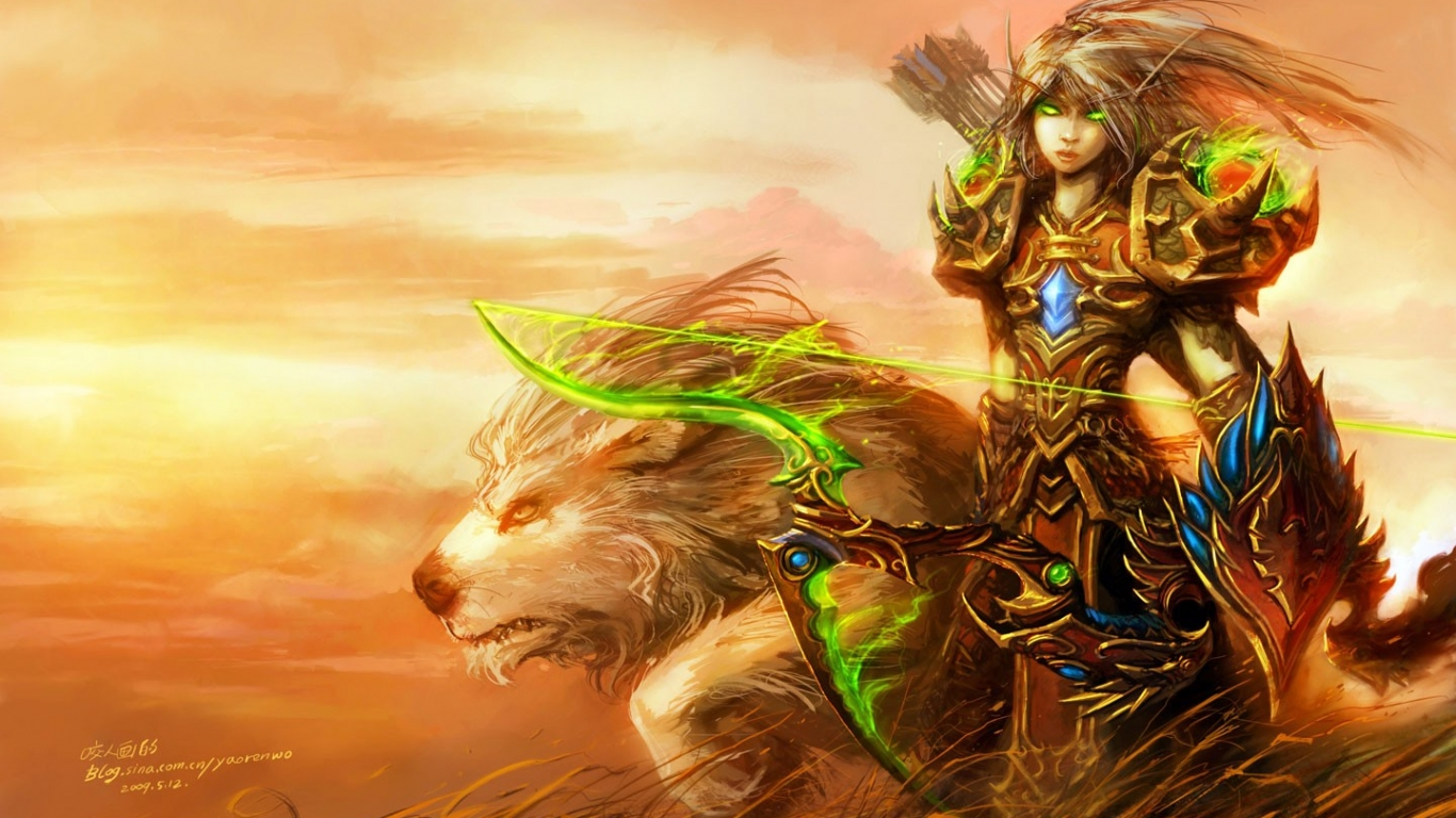 Blood Elf de World of Warcraft - 1366x768