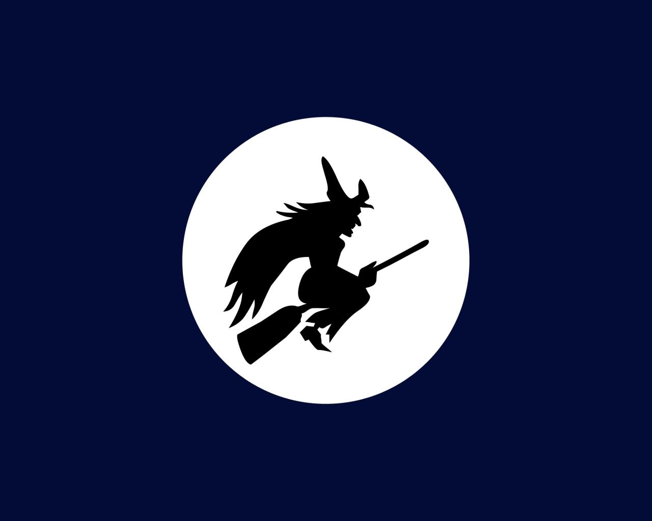 Bruja y luna llena - 1280x1024