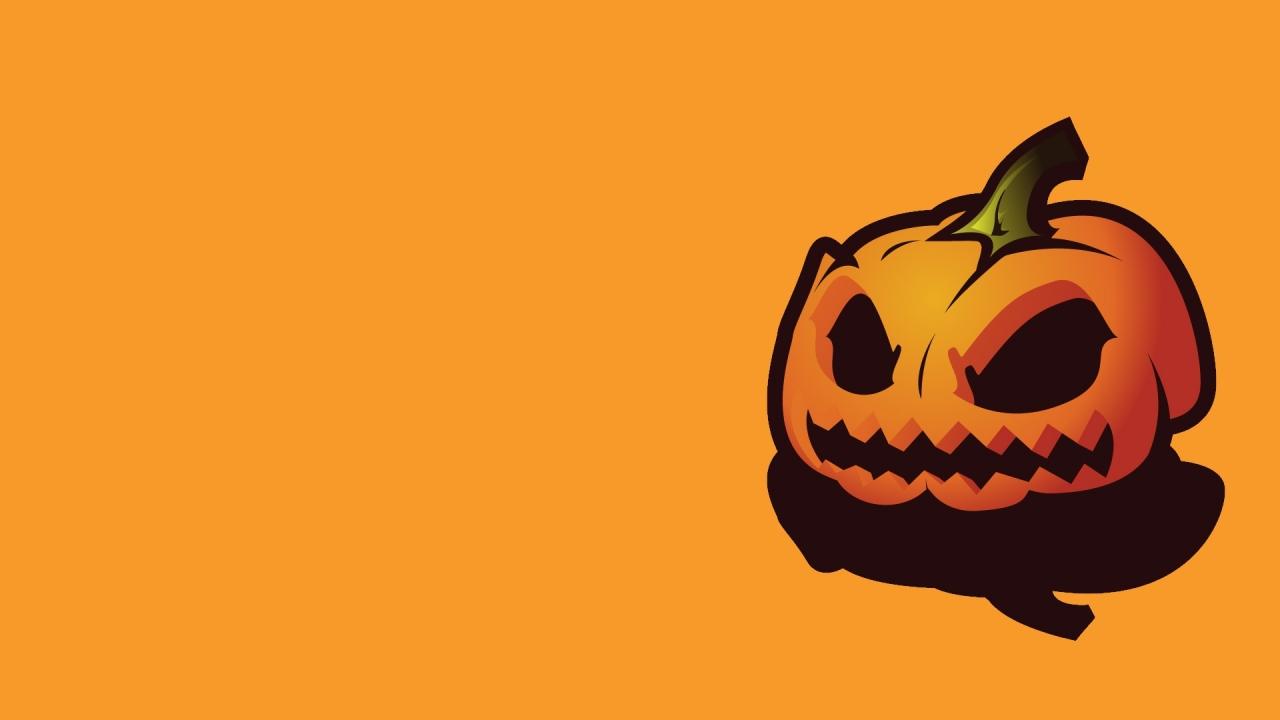 Calabaza y fondo naranja - 1280x720