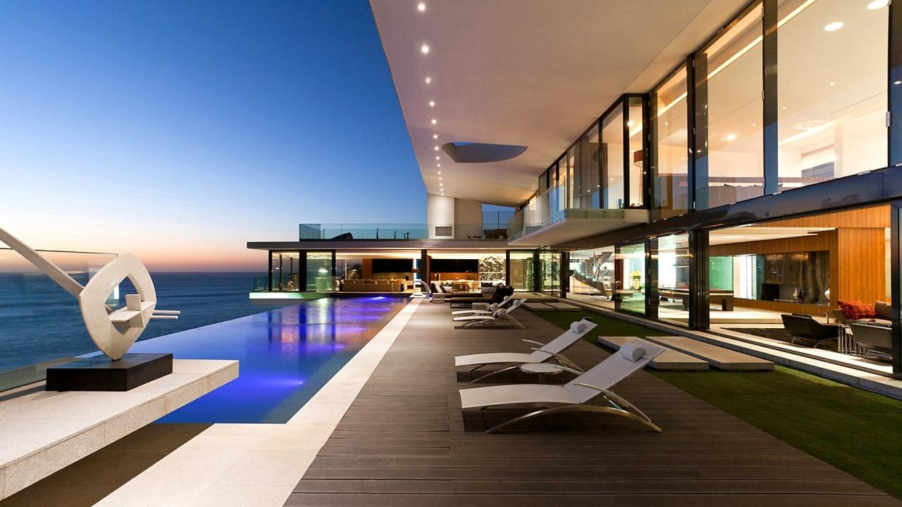 Casa con vista al mar - 1280x720