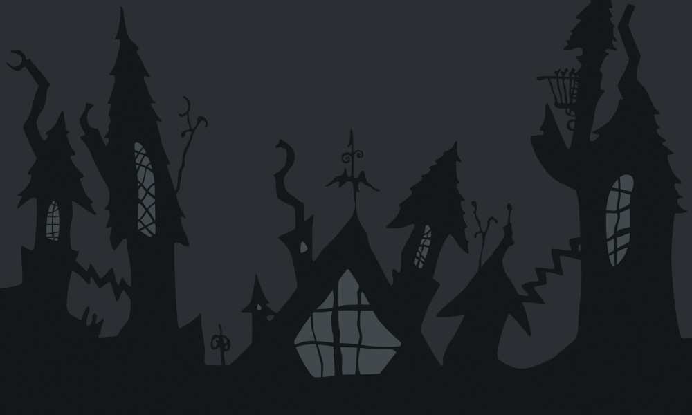 Castillo de noche de brujas - 1000x600