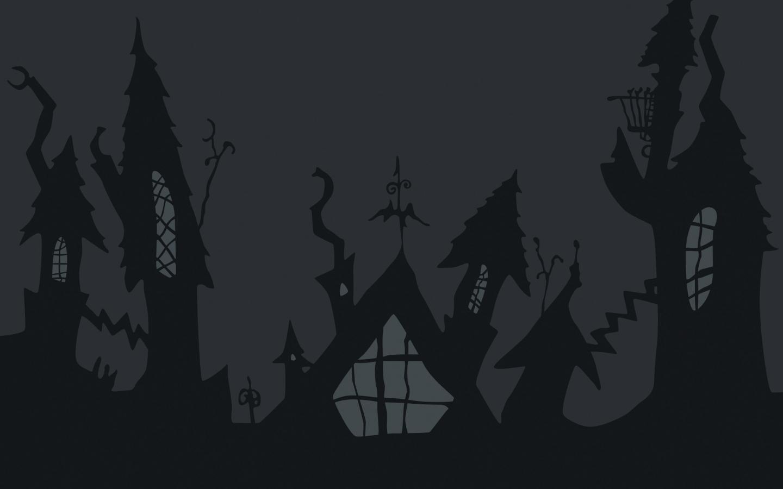 Castillo de noche de brujas - 1440x900