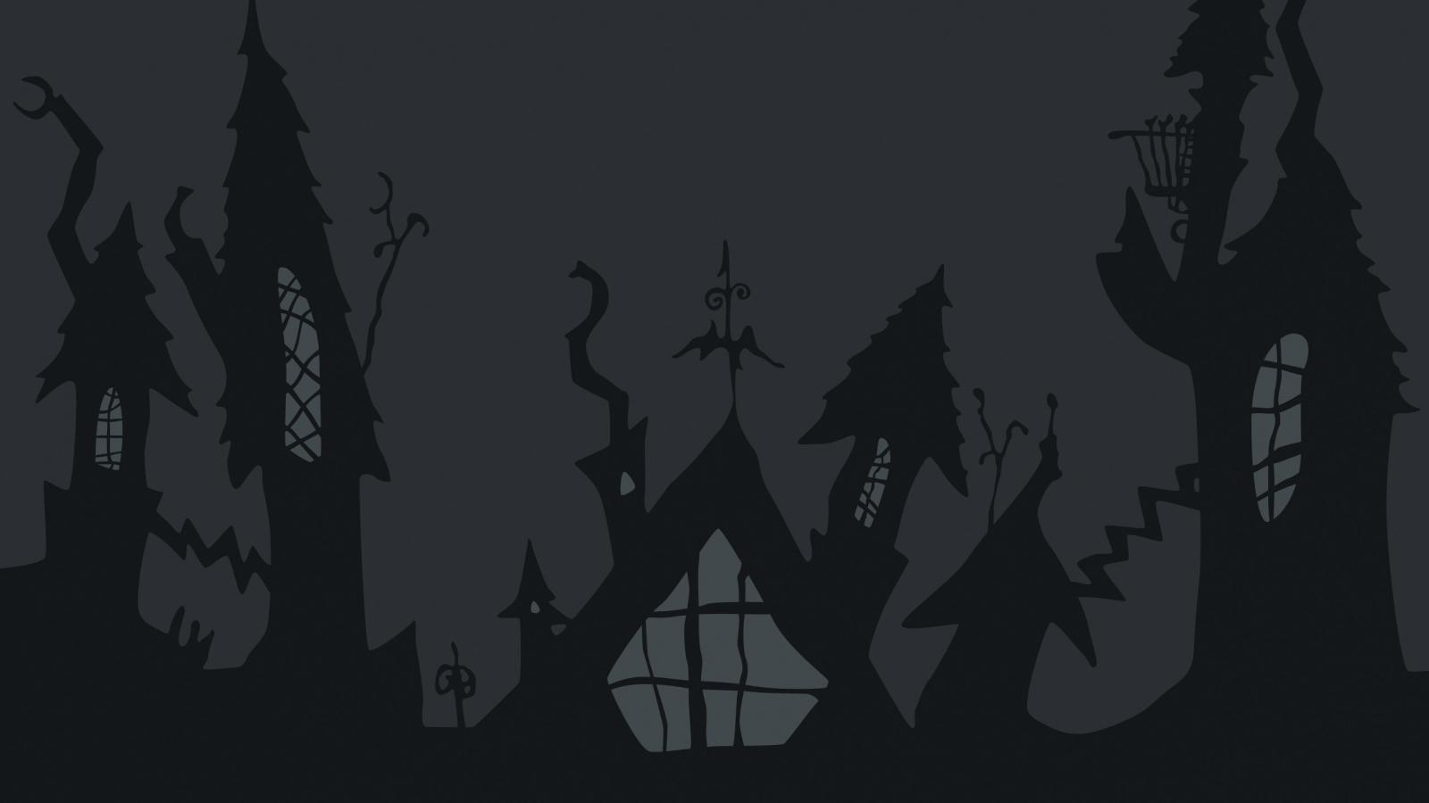 Castillo de noche de brujas - 1600x900