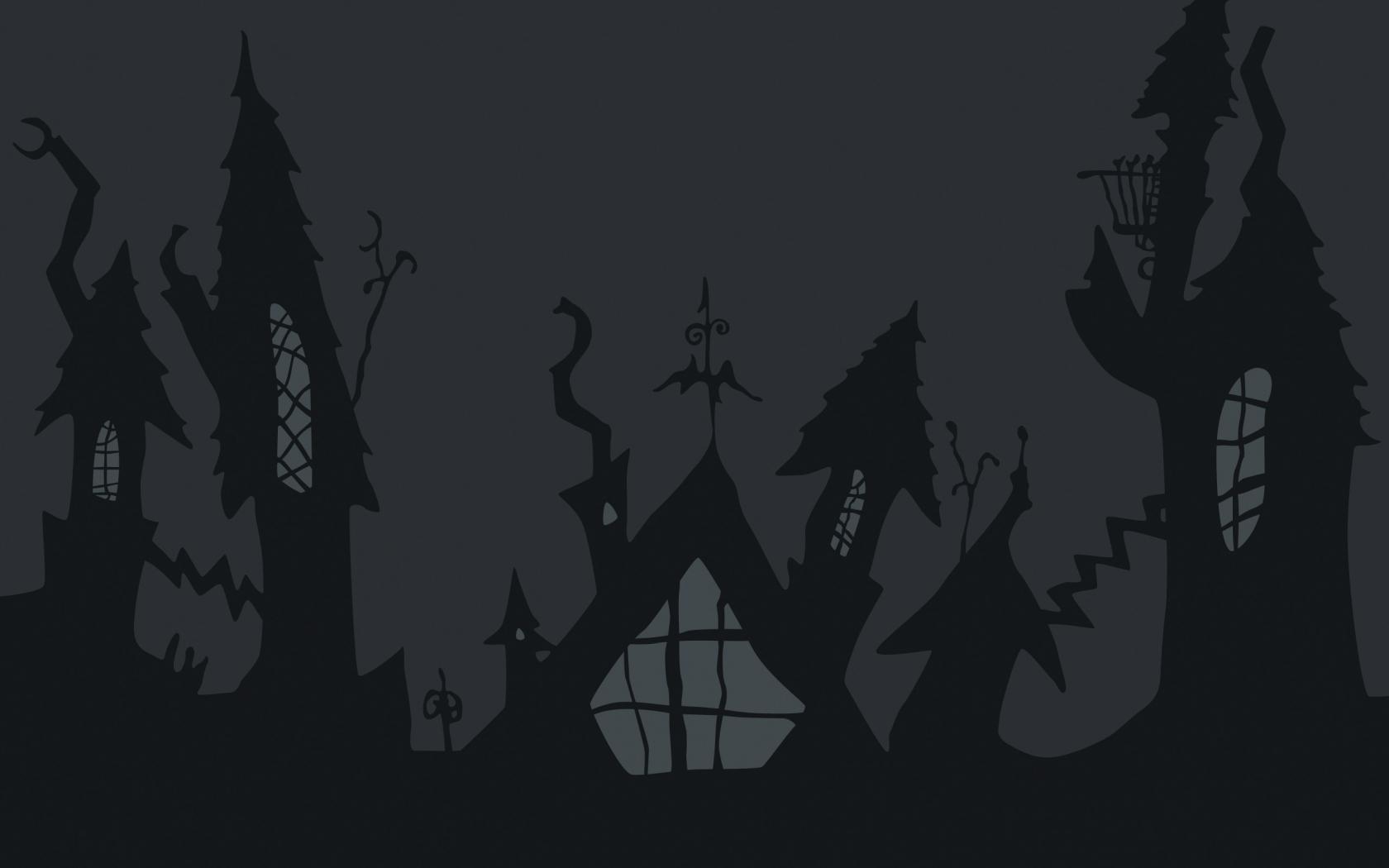 Castillo de noche de brujas - 1680x1050