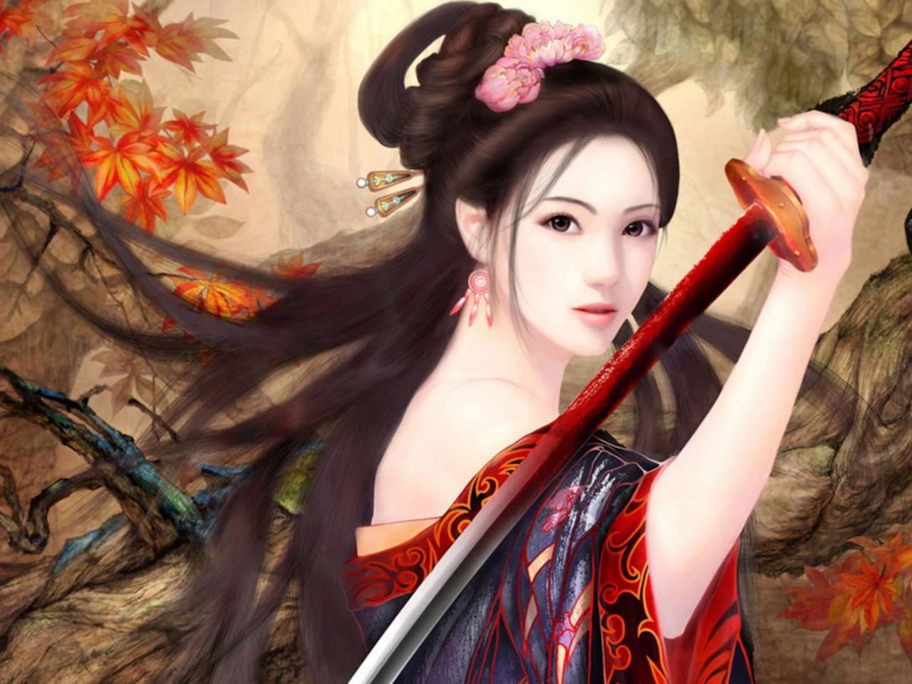 Chica de anime - 1280x960