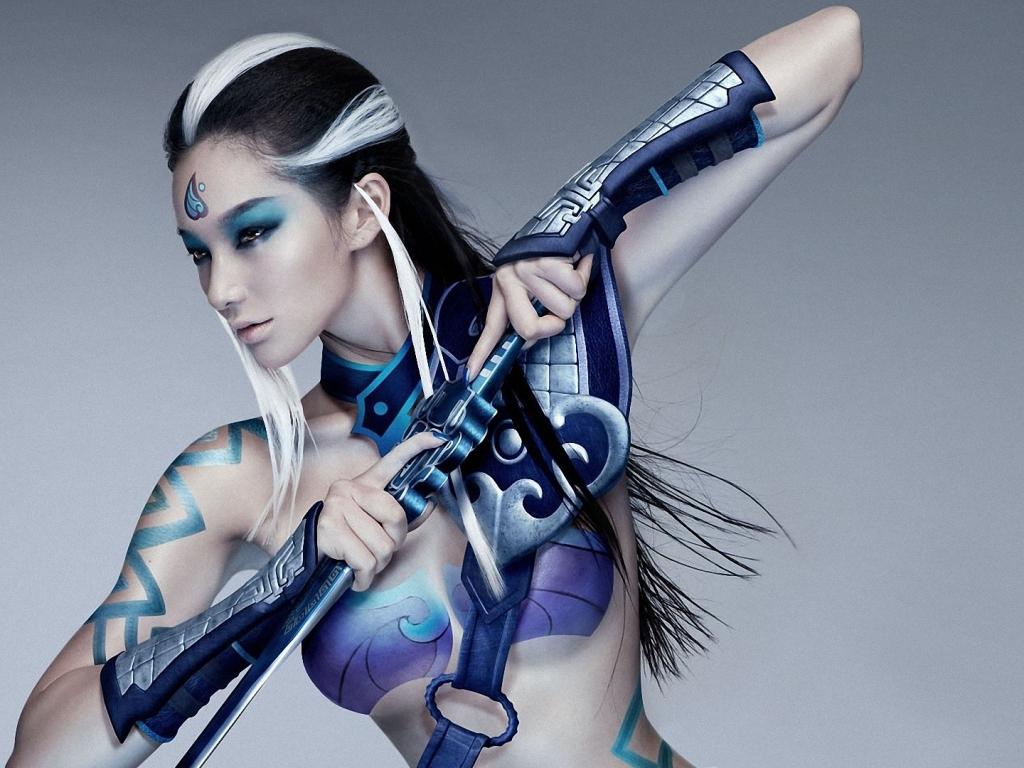 Chica guerrera - 1024x768