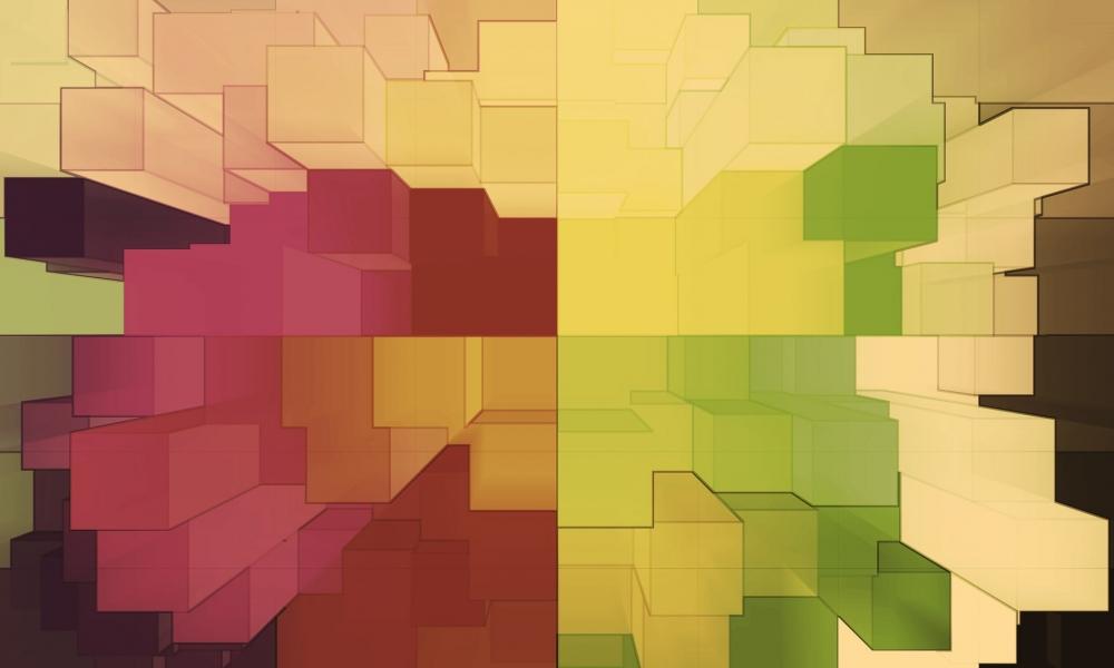 Cuadros abstractos pixelados - 1000x600