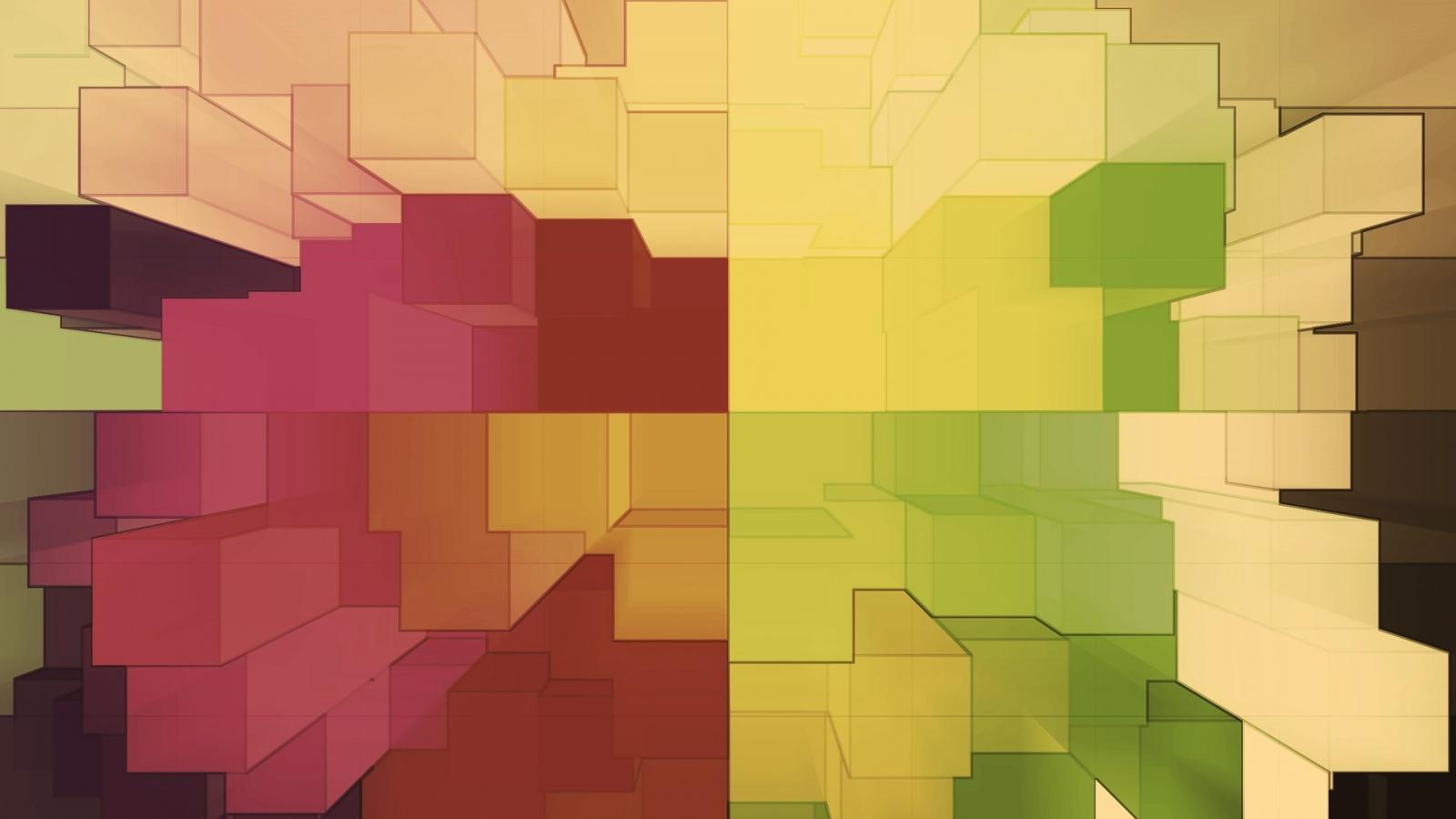 Cuadros abstractos pixelados - 1600x900