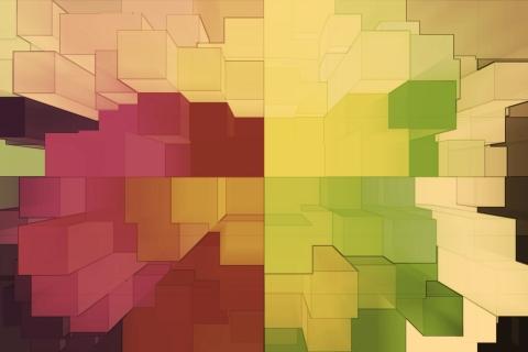 Cuadros abstractos pixelados - 480x320