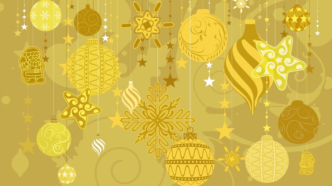 Decoración y adornos dorados - 1280x720