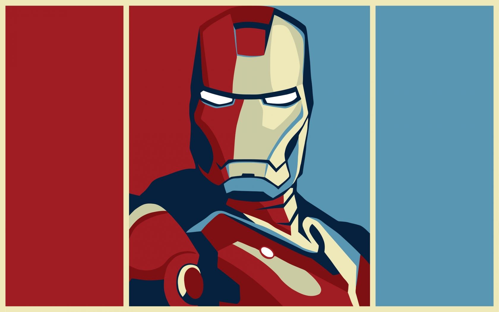Dibujo de Iron Man - 1680x1050