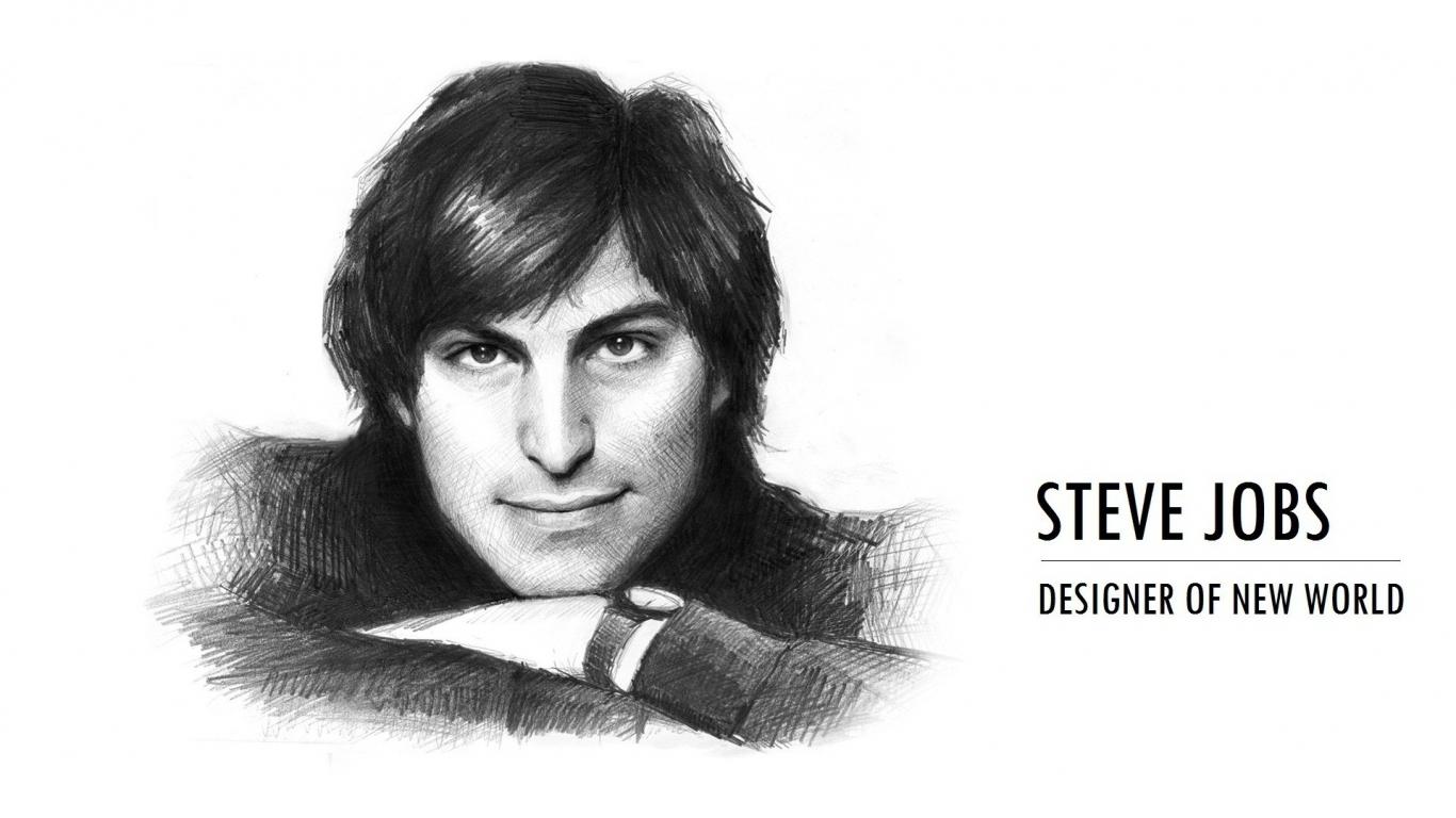 Dibujo de Steve Jobs - 1366x768
