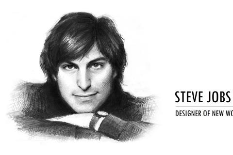 Dibujo de Steve Jobs - 480x320