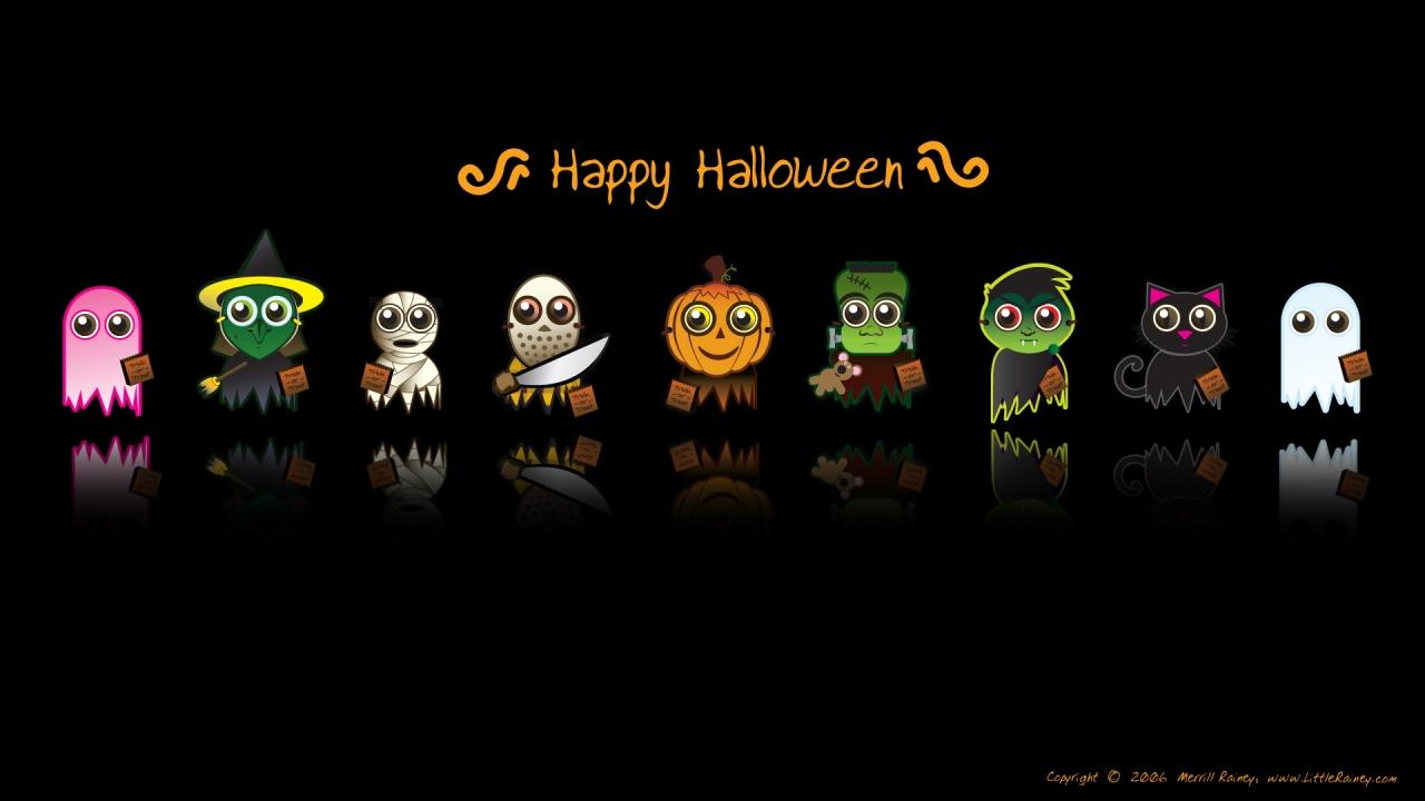 Dibujos de halloween - 1280x720