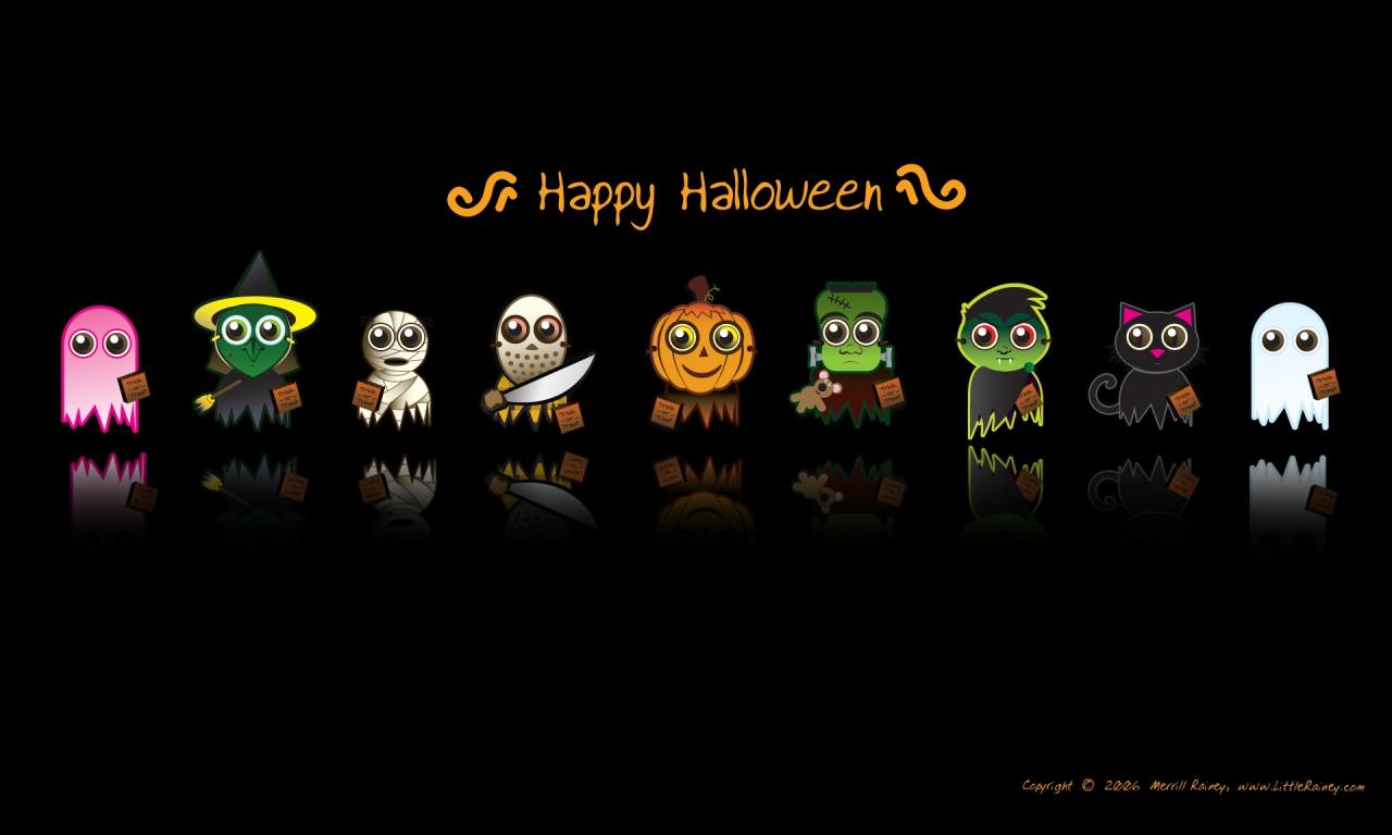 Dibujos de halloween - 1280x768