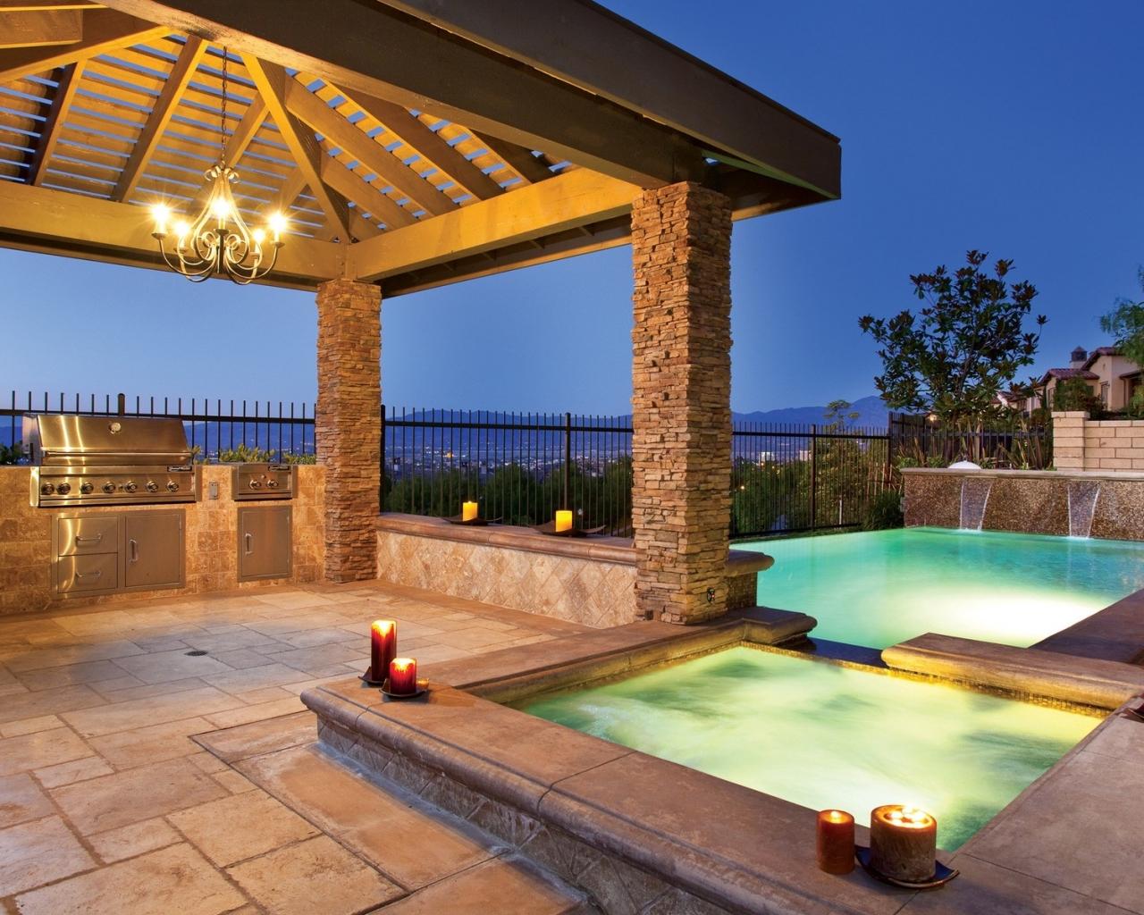 Diseño de una piscina - 1280x1024