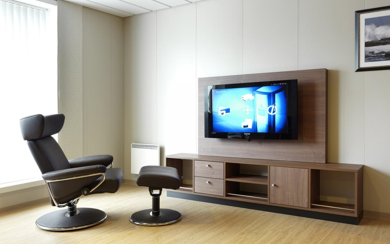 Diseño de sala de Televisión - 1280x800