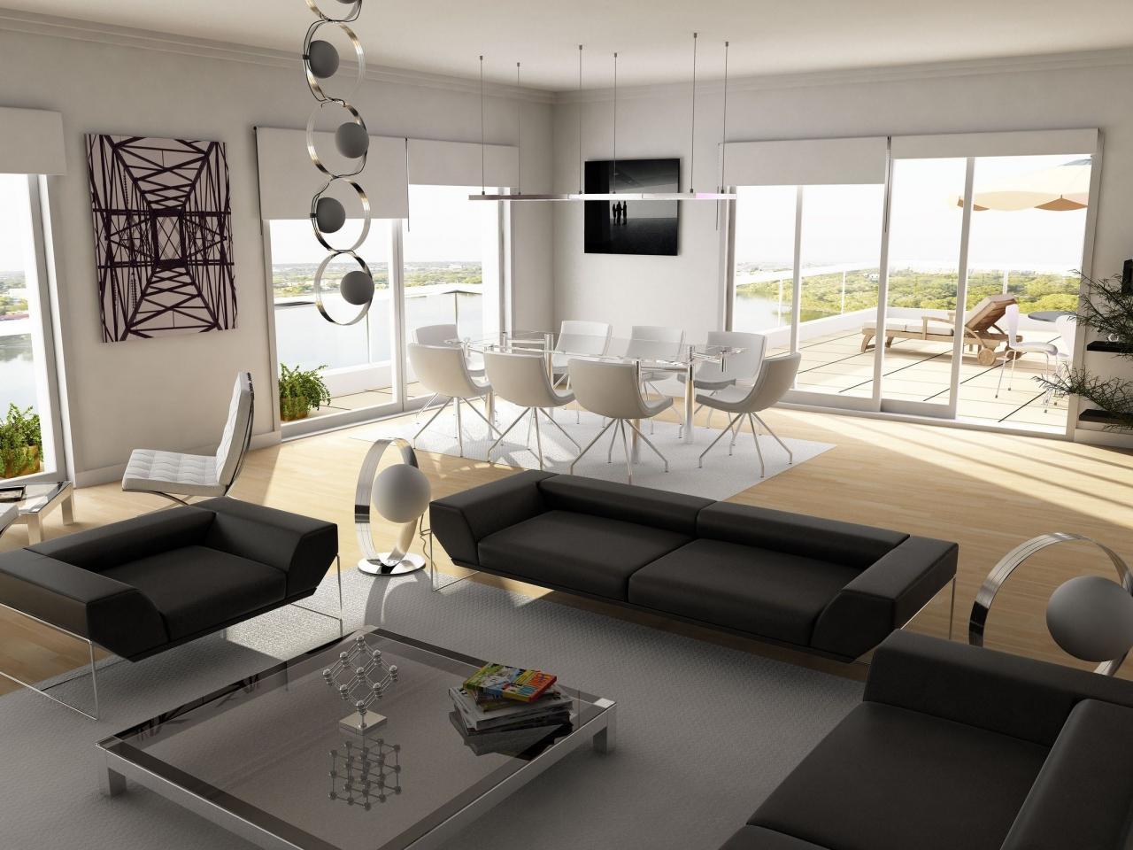 Diseño interior de una casa de campo - 1280x960