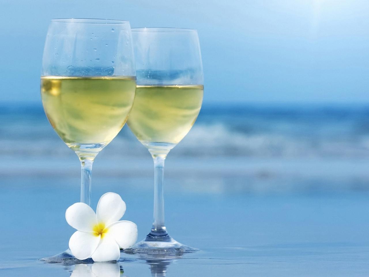 Dos copas de champagne - 1280x960