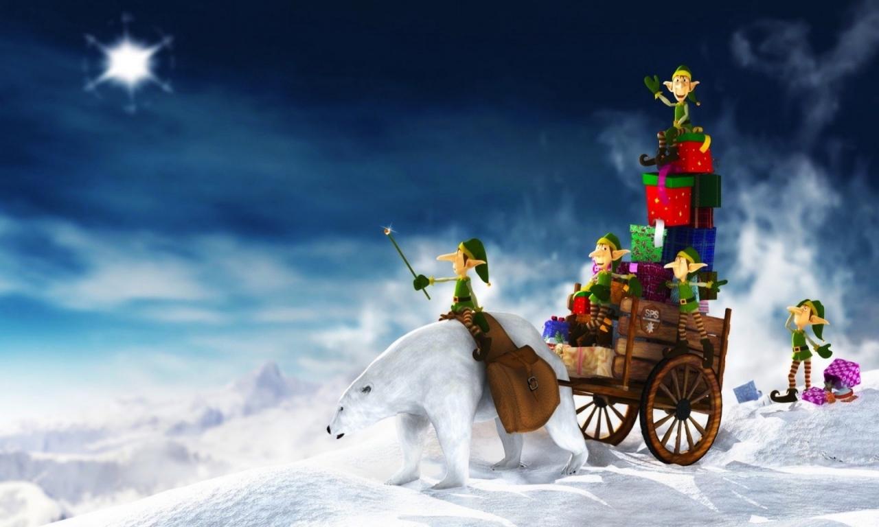 Duendes en navidad - 1280x768