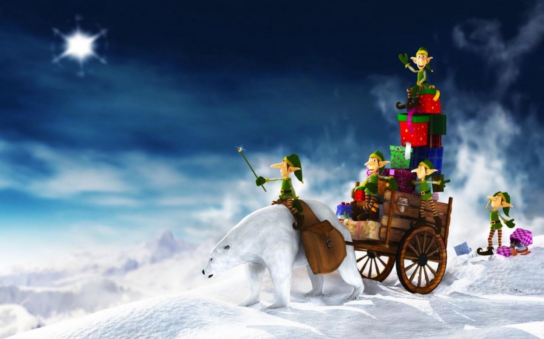Duendes en navidad - 1440x900