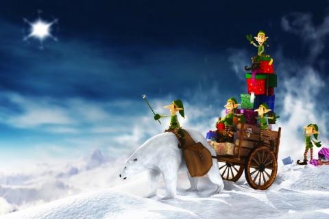 Duendes en navidad - 480x320
