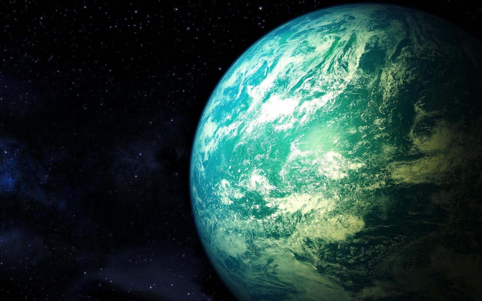 El planeta tierra desde el espacio - 1680x1050