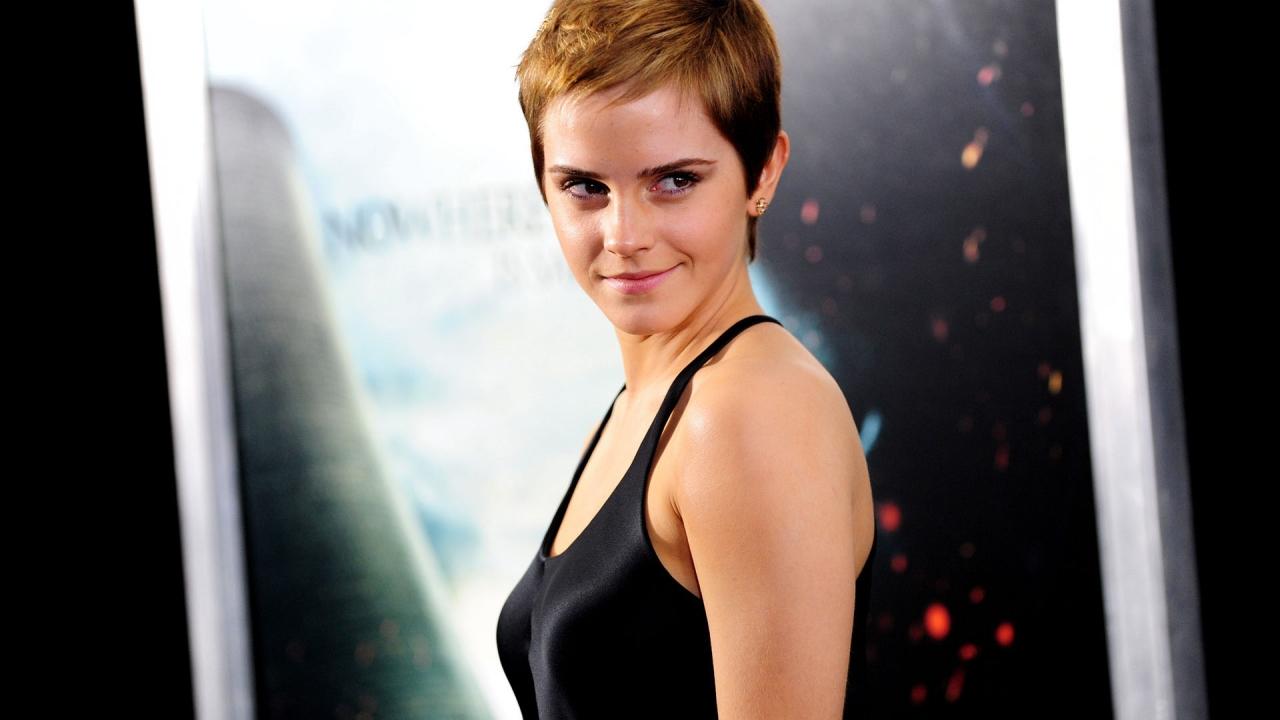 Emma Watson con cabello corto - 1280x720