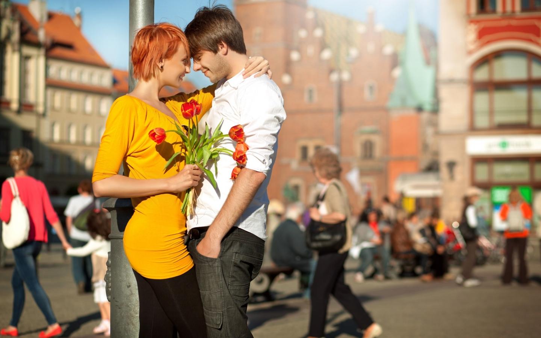 Enamorados felices - 1440x900