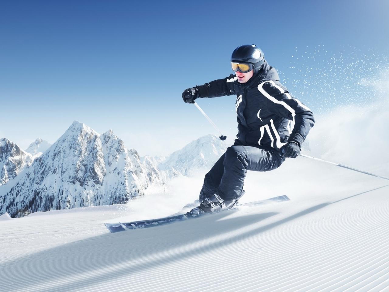 Esquiar en la nieve - 1280x960