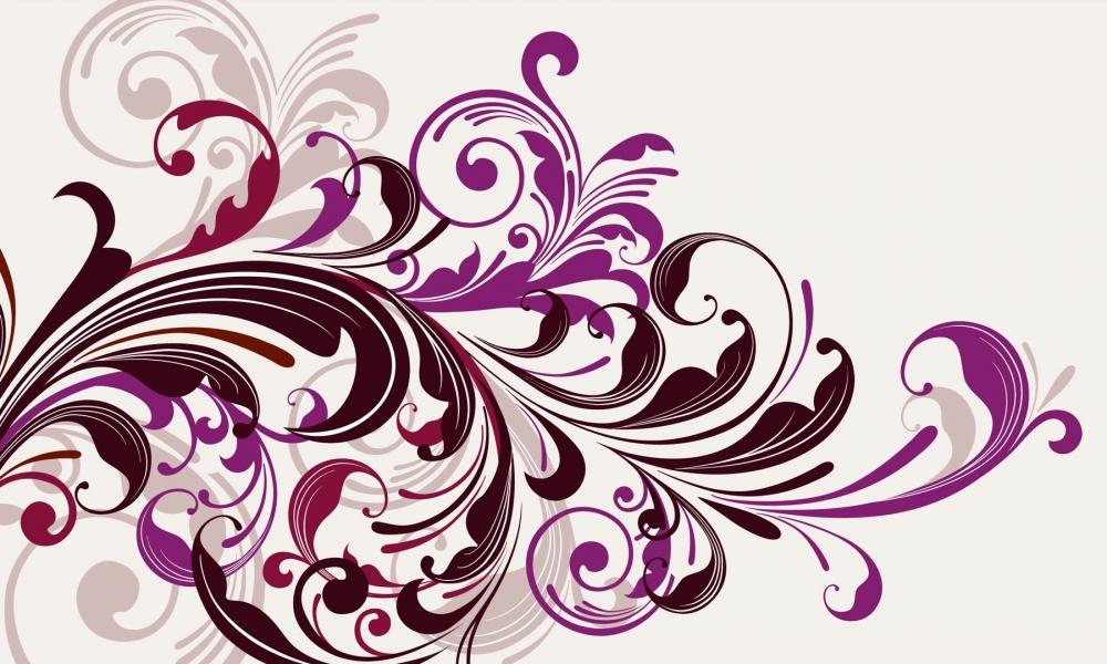 Flores abstractas - 1000x600