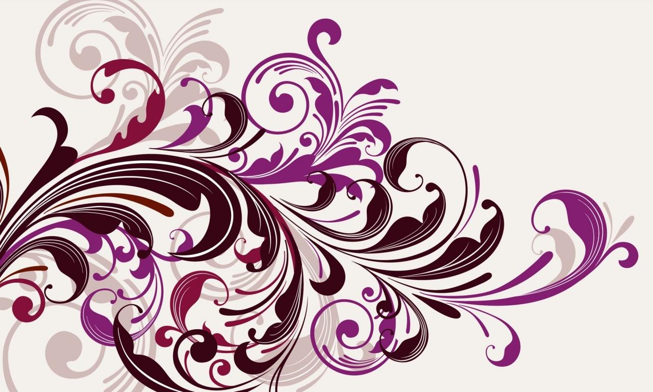 Flores abstractas - 1280x768