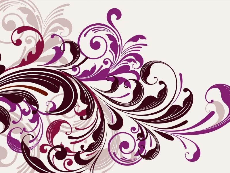 Flores abstractas - 800x600