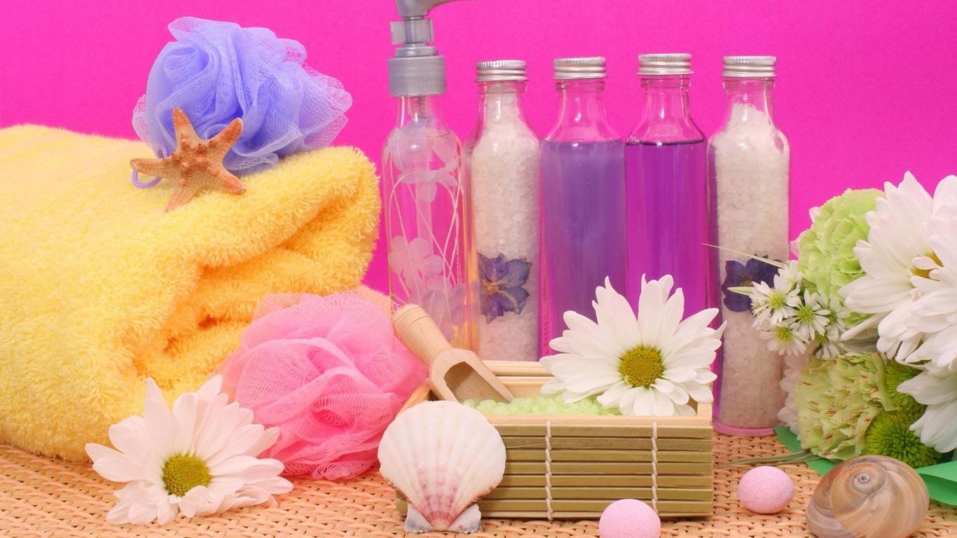 Flores y aromas - 1366x768