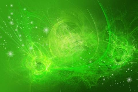 Fondo verde abstracto - 480x320