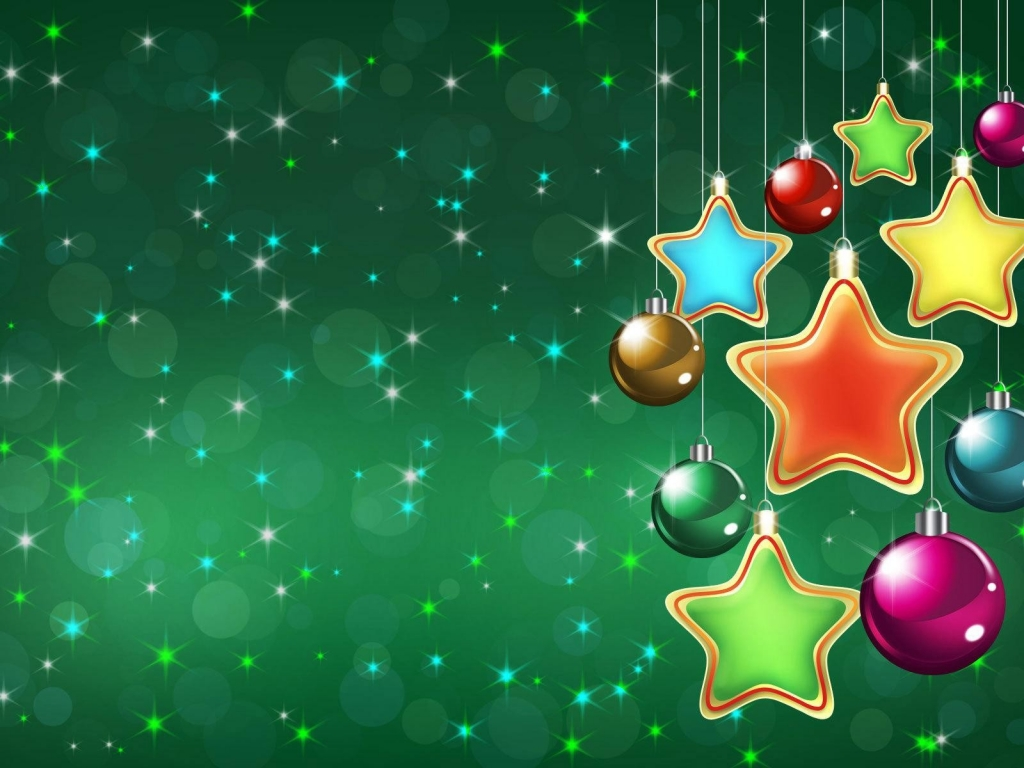 Fondo verde navidad - 1024x768