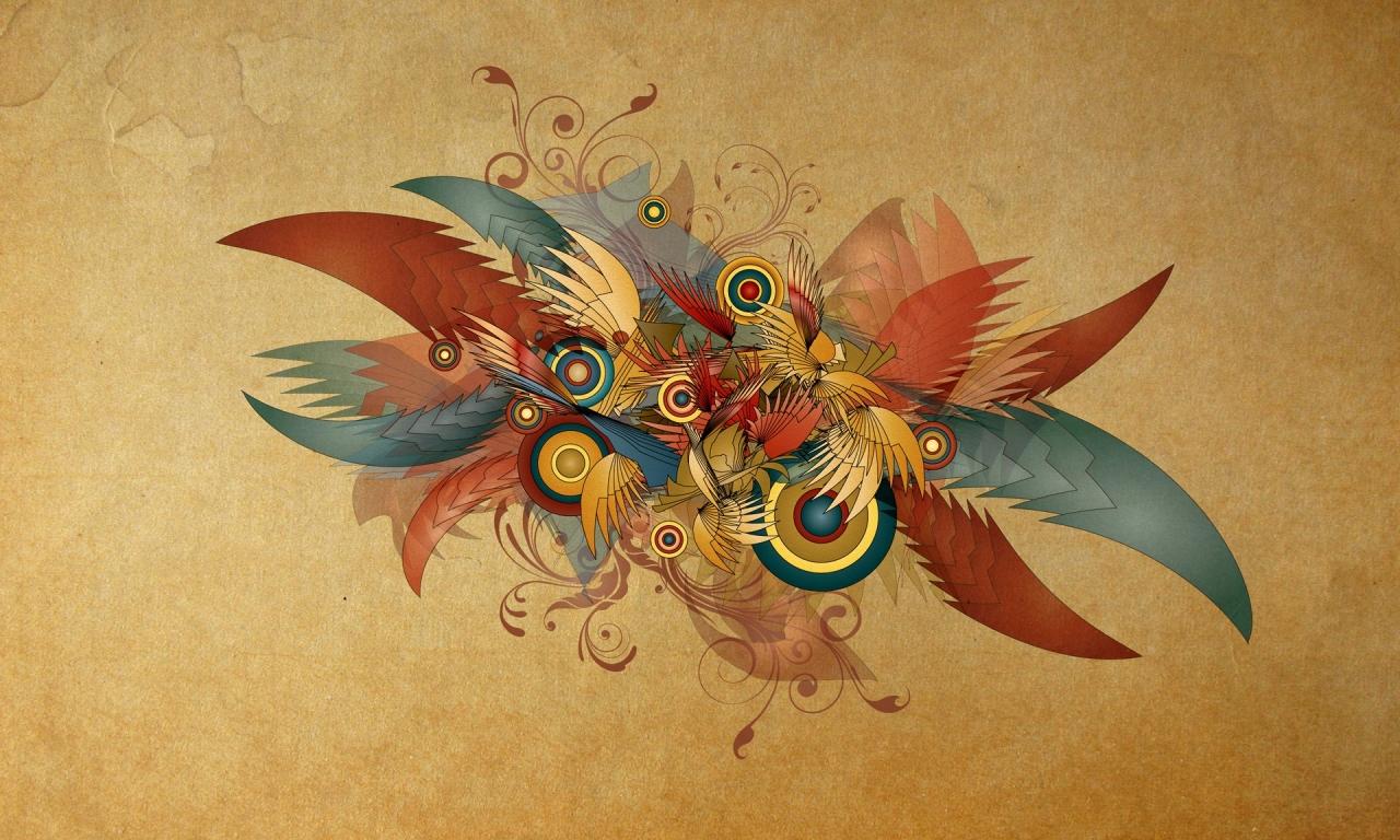 Formas abstractas - 1280x768