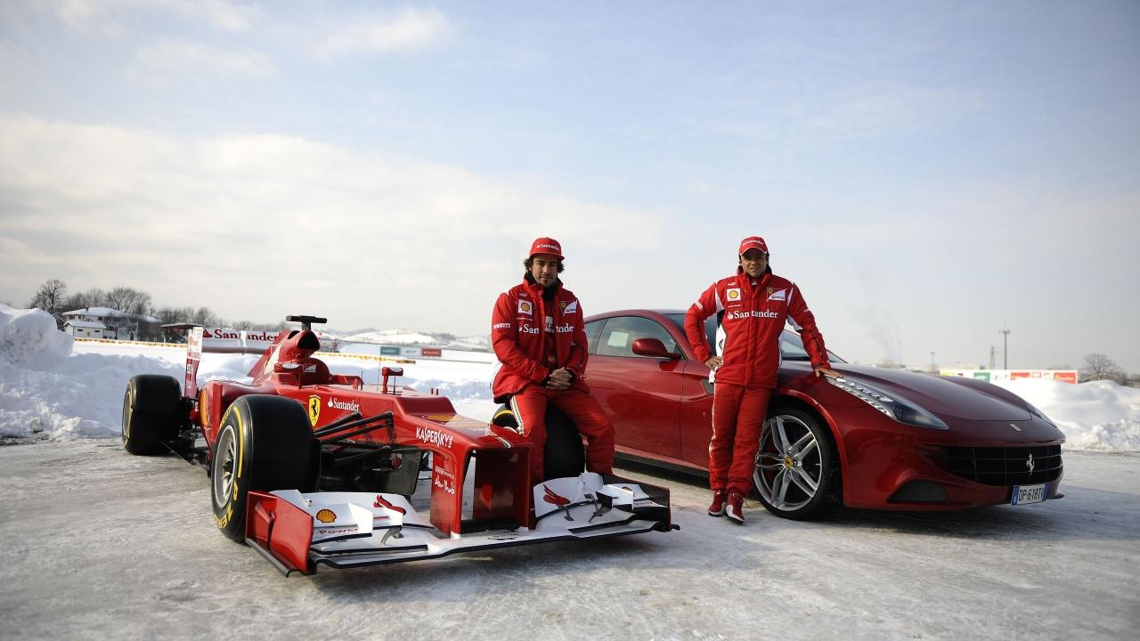 Formula 1 en la nieve - 1280x720