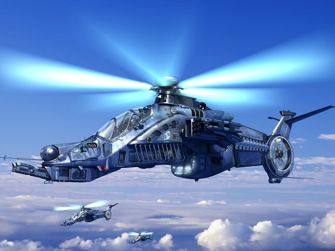Helicóptero de videojuegos - 1280x960