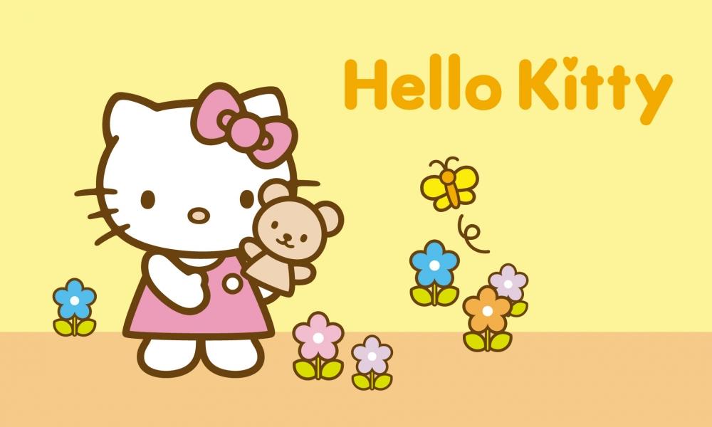 Hello Kitty amarillo - 1000x600
