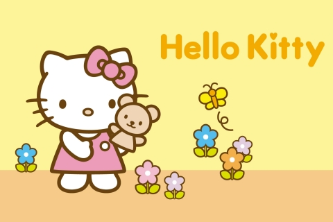 Hello Kitty amarillo - 480x320