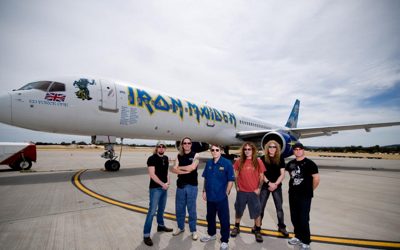 Iron Maiden y su avión privado - 1280x800