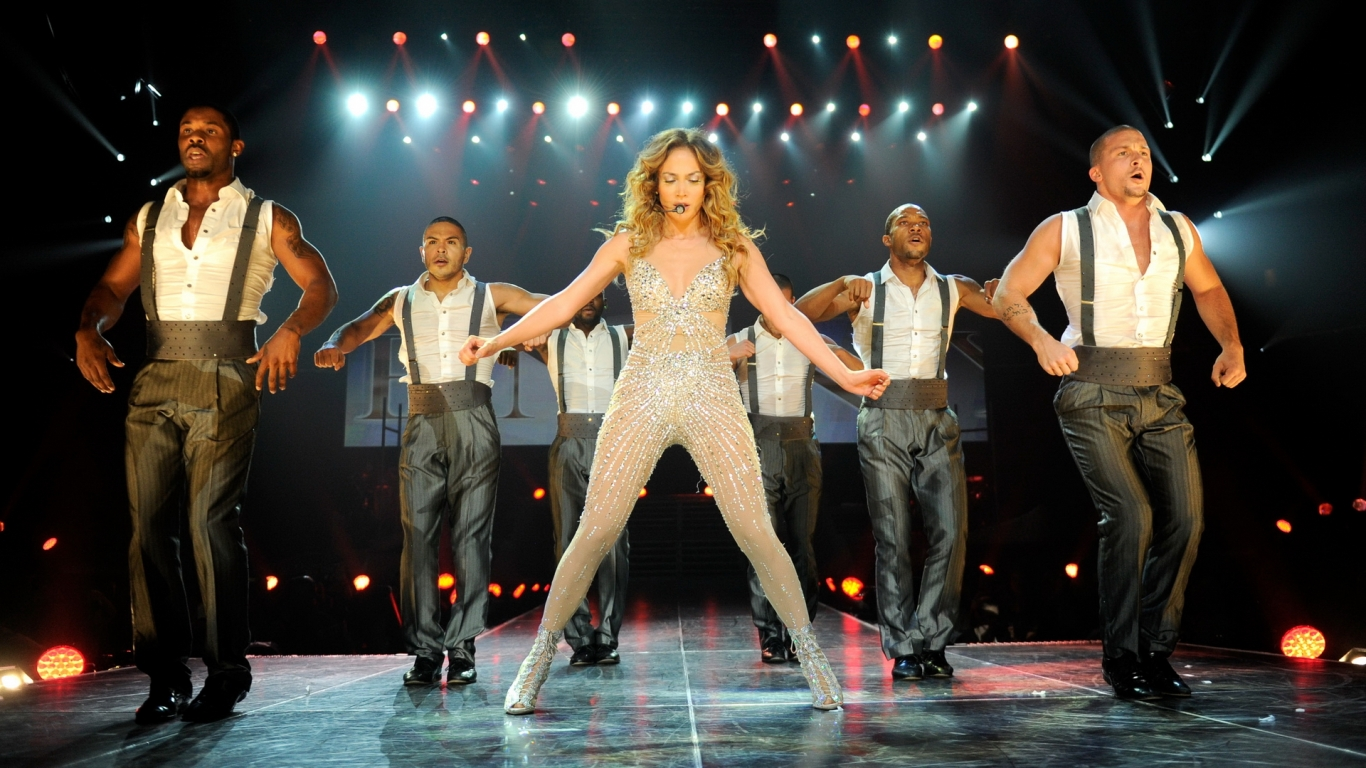 Jennifer Lopez en concierto - 1366x768