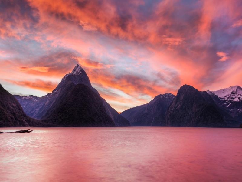 Lago de Nueva Zelanda - 800x600