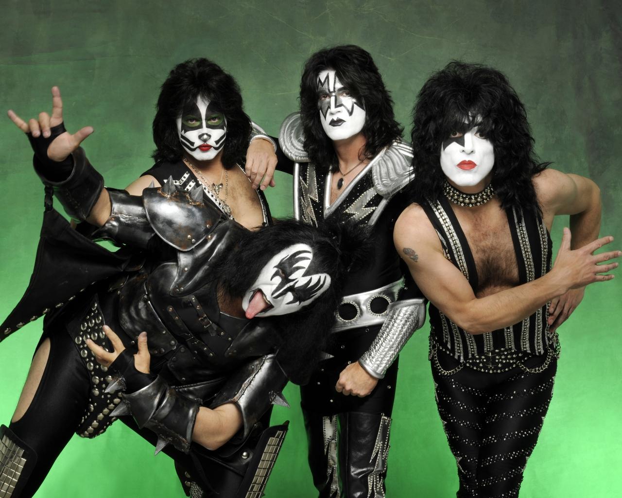 Las caras pintadas de Kiss - 1280x1024