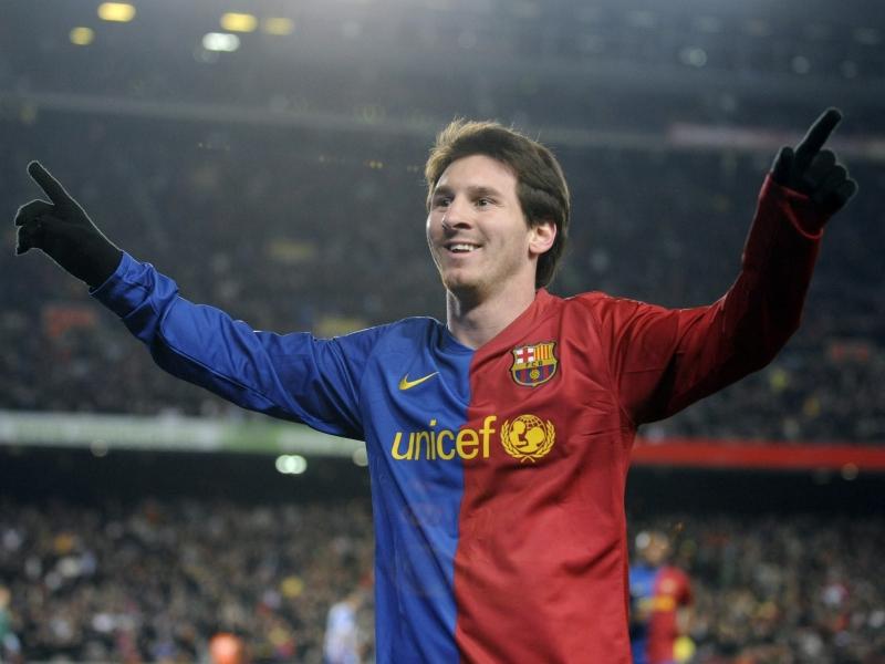 Lionel Messi en el Barcelona - 800x600