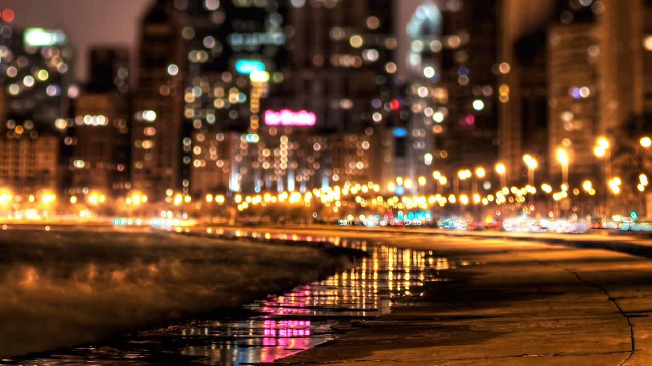 Luces en ciudad - 1280x720
