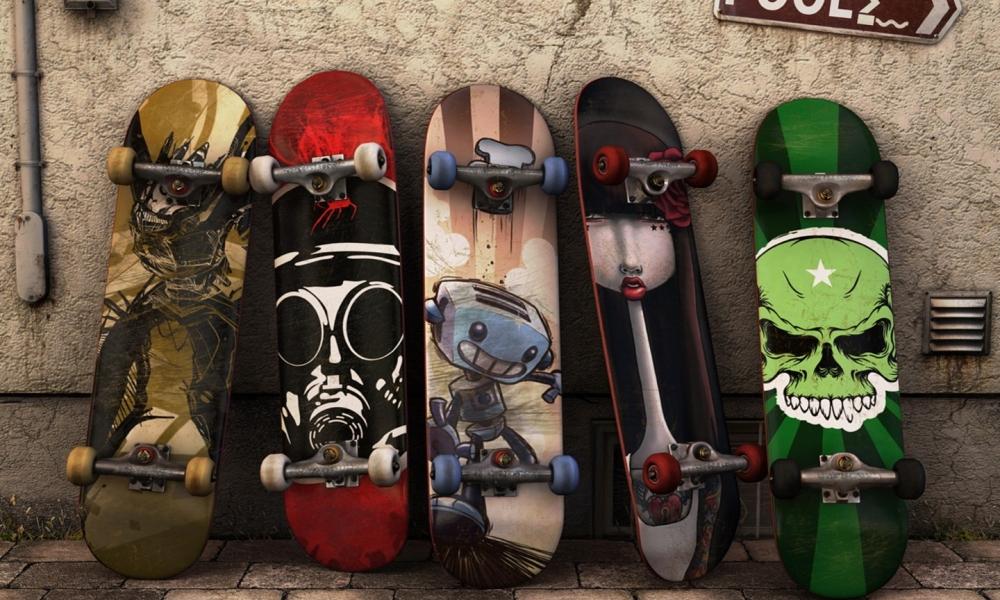 Modelos de tablas de skate - 1000x600