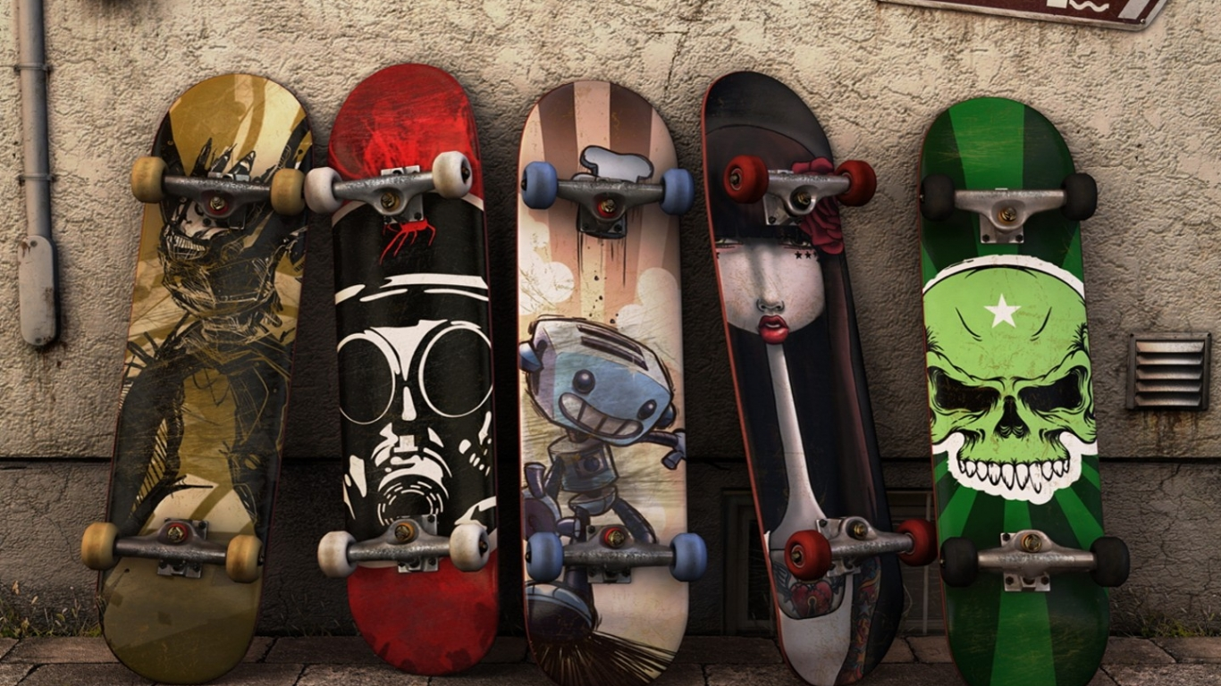 Modelos de tablas de skate - 1366x768