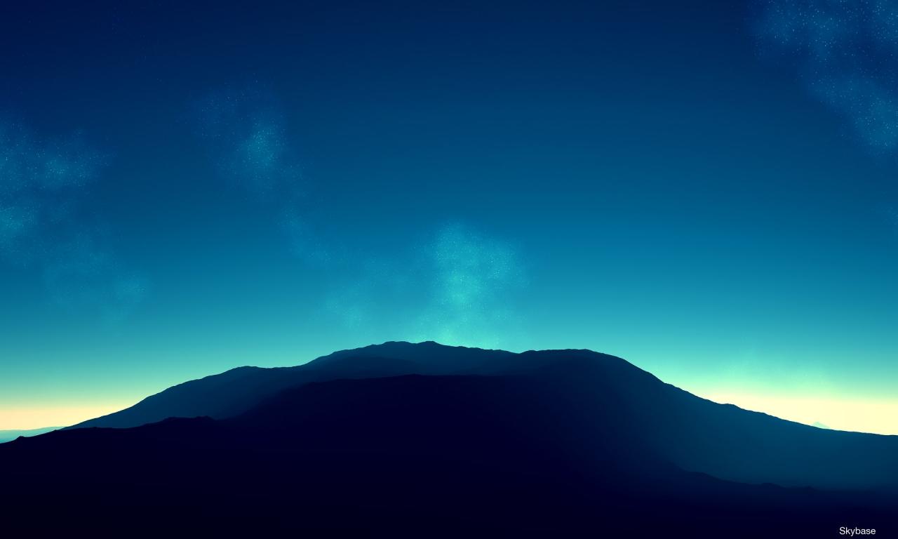 Montañas en el horizonte - 1280x768